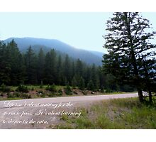 Beautiful Scenery With Quote Photographic Print