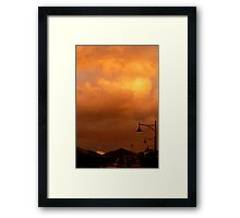 Sunset on Suburbia Framed Print