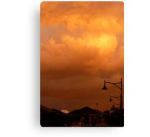 Sunset on Suburbia Canvas Print