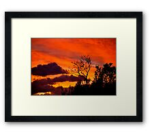 Fire Above Framed Print