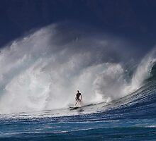 Surfer At RockPile 2 by Alex Preiss