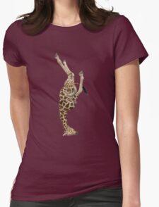 Giraffe Mastered Shirshasana Womens Fitted T-Shirt