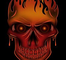 Flame Skull (2) by Adamzworld