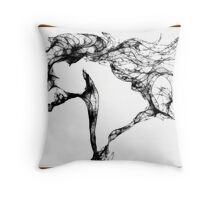 Scribbled Mustang Throw Pillow