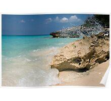 Crashing Waves, Rose Island, Bahamas Poster