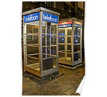Den Haag Telephone Booths Poster