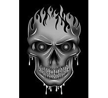 Flame Skull - Silver (2) Photographic Print