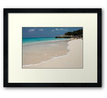Beach, Rose Island, Bahamas Framed Print