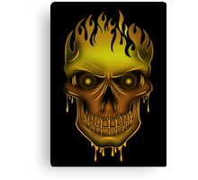 Flame Skull - Gold (2) Canvas Print