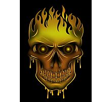 Flame Skull - Gold (2) Photographic Print