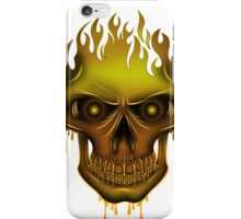 Flame Skull - Gold iPhone Case/Skin