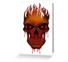 Flame Skull Greeting Card
