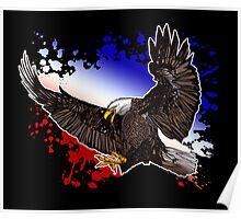 Bald Eagle - Red, White & Blue (2) Poster