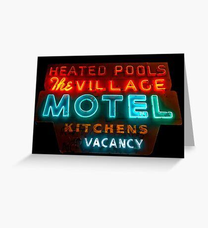 The Village Motel Greeting Card
