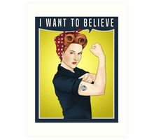 Scully the riveter Art Print