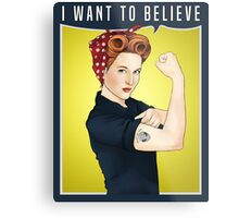Scully the riveter Metal Print