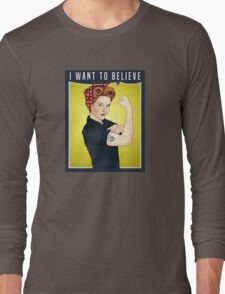 Scully the riveter Long Sleeve T-Shirt