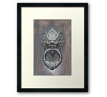 Dracula Door Knocker Florence Framed Print
