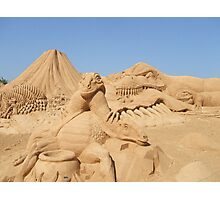 Sand Sculpture Photographic Print