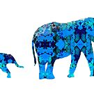 Inkblot Elephants by mrthink