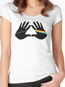 Dark side hands Women's Fitted Scoop T-Shirt