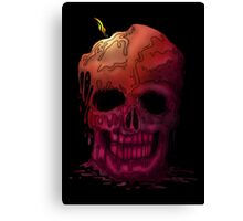 Skull Candle (2) Canvas Print