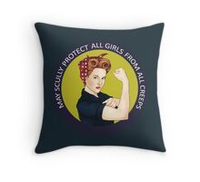 May Scully protect all girls from all creeps Throw Pillow
