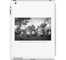 The Surrender of General Burgoyne iPad Case/Skin