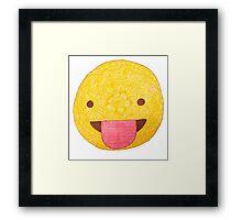 Silly Emoji Framed Print