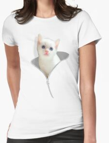 Funny Cat And The Zipper T-Shirt