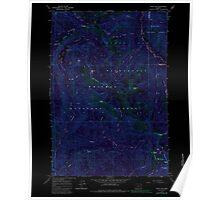 USGS Topo Map Oregon China Cap 279344 1965 24000 Inverted Poster