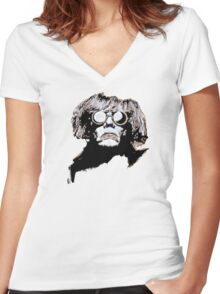 WARHOL on wood Women's Fitted V-Neck T-Shirt