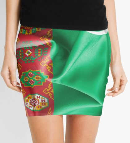 Turkmenistan Flag Mini Skirt