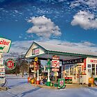 Gas War 2 on Route 66 by Jerry E Shelton