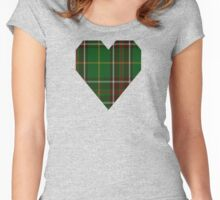 00114 Newfoundland District Tartan  Women's Fitted Scoop T-Shirt
