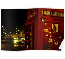 Phone Box London Poster