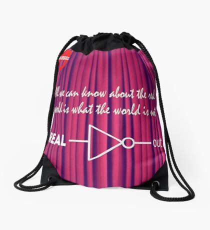 Knowing What To Discard Is Knowledge Drawstring Bag