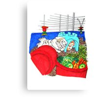 Guinea Pigs in a cage Canvas Print