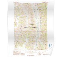 USGS Topo Map Oregon Sheep Creek Divide 281462 1990 24000 Poster