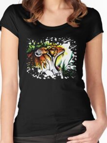 Tiger In The Wild Women's Fitted Scoop T-Shirt