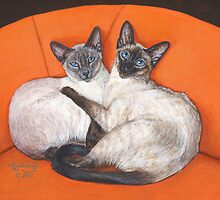 Cozy Couple by artbyakiko