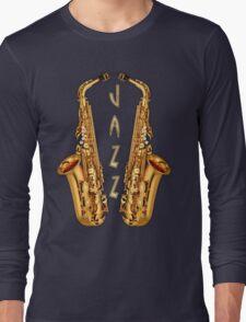 Jazz Saxophone Gold Long Sleeve T-Shirt