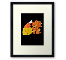 Bite Me - Candy Corn Framed Print