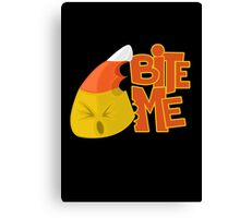 Bite Me - Candy Corn Canvas Print