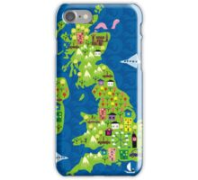 cartoon map of the UK iPhone Case/Skin