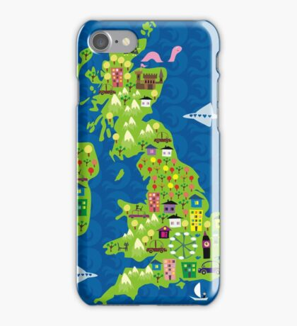 cartoon map of the UK iPhone Case/Skin