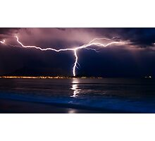 Lightning over Cape Town Photographic Print