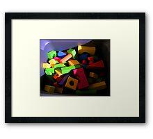 """""""Blocks"""" Framed Print"""