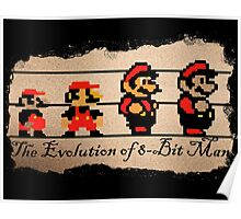 The Evolution of 8-bit Man Poster