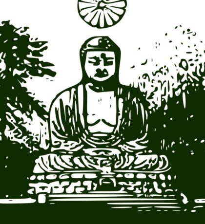 Green Buddha  Sticker